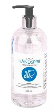 Saga håndsprit 500ml 73%